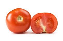 Отрезанный изолированный томат Стоковая Фотография RF