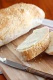 Отрезанный итальянский хлеб Стоковые Фотографии RF