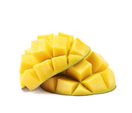 Отрезанный и отрезанный изолированный плодоовощ манго Стоковая Фотография RF