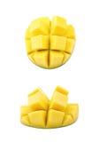 Отрезанный и отрезанный изолированный плодоовощ манго Стоковое Изображение RF