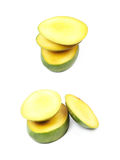 Отрезанный и отрезанный плодоовощ манго Стоковые Изображения RF