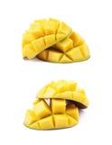 Отрезанный и отрезанный плодоовощ манго Стоковое Изображение RF