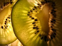 отрезанный киви Стоковая Фотография RF