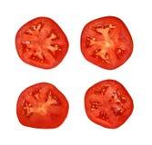 Отрезанный красный томат Стоковая Фотография