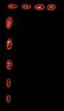 отрезанный красный цвет горячего перца рамки chili Стоковое фото RF