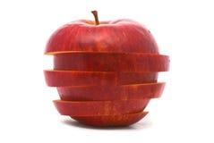 отрезанный красный цвет яблока Стоковое Изображение RF