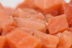 Отрезанный крупный план сырого мяса Стоковое Фото