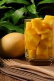 отрезанный манго Стоковая Фотография RF