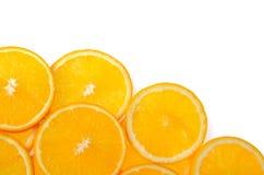 Отрезанный оранжевый плодоовощ изолированный на белой предпосылке Стоковые Фотографии RF