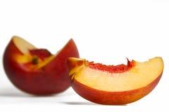 отрезанный персик Стоковые Изображения RF