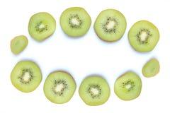 Отрезанный плодоовощ кивиа на белизне Стоковое фото RF