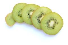 Отрезанный плодоовощ кивиа на белизне Стоковая Фотография