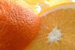 Отрезанный свежий апельсин Стоковая Фотография RF