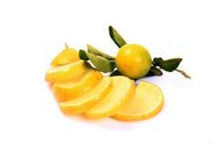 Отрезанный свежий лимон Стоковая Фотография RF