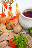 отрезанный соус мяса Стоковое Фото