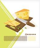 отрезанный сыр Иллюстрация вектора