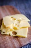 Отрезанный сыр Стоковые Фотографии RF