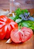 отрезанный томат Стоковое Фото