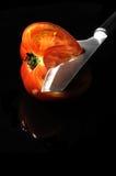 отрезанный томат Стоковое Изображение