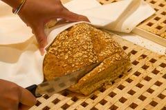 отрезанный франчуз хлеба Стоковые Фото