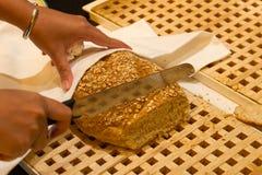 отрезанный франчуз хлеба Стоковые Фотографии RF