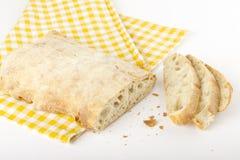 Отрезанный хлеб ââciabatta Стоковые Фотографии RF