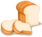 отрезанный хлеб Стоковые Изображения RF