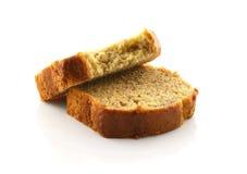 Отрезанный хлеб банана изолированный на предпосылке Стоковое Фото