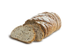 Отрезанный хлеб рож с льняным семенем Стоковое Изображение RF