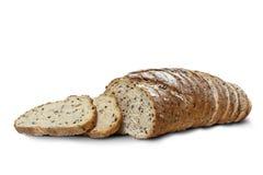 Отрезанный хлеб рож с льняным семенем Стоковое Фото