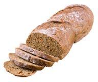 Отрезанный хлеб с морковами и семенами подсолнуха Стоковая Фотография RF