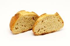 Отрезанный хлеб с солью стоковое изображение
