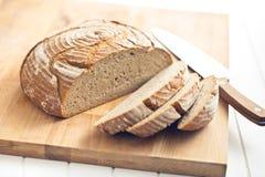отрезанный хлеб Стоковая Фотография