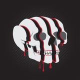 Отрезанный череп Стоковые Фото