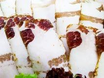 Отрезанный шпик свинины стоковые фото