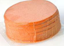 отрезанный bologna Стоковое Изображение RF
