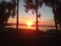 Отрезать заход солнца Стоковая Фотография RF