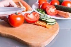 Отрезать томат Стоковое Изображение RF