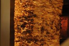 Отрезки мяса подготовили Shawarma Стоковое Фото