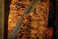 Отрезки мяса подготовили Shawarma Стоковые Фотографии RF