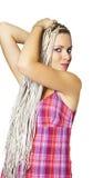 отрезки провода девушки длинние Стоковые Изображения RF