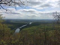 Отрезки реки в земле стоковые фотографии rf