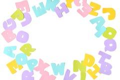 Отрезок бумаги алфавита Scatter стоковые изображения rf