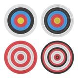 Отрезок бумаги значка цели для спорта и войск стрельбы оружия дальше Стоковая Фотография RF