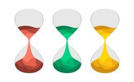 Отрезок бумаги иллюстрации вектора часов плоский Стоковое Изображение