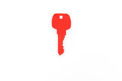 Отрезок бумаги ключа для сердца как символ влюбленности Стоковая Фотография