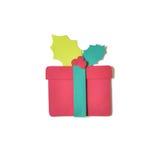 Отрезок бумаги подарочной коробки рождества Стоковые Изображения RF