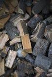 Отрезок древесины и штабелированный Стоковая Фотография RF