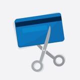 Отрезок кредитной карточки иллюстрация штока
