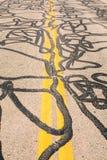 Отремонтированная дорога Стоковая Фотография